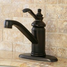 Templeton Single Handle Bathroom Faucet with Push-Up and Optional Deck Plate
