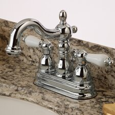 <strong>Kingston Brass</strong> Heritage Double Handle Centerset Bathroom Faucet with ABS Pop-Up Drain