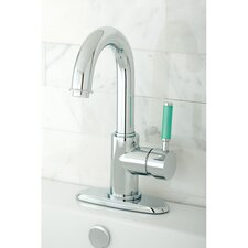 <strong>Kingston Brass</strong> Green Eden Single Handle Bathroom Faucet with Push-up Drain