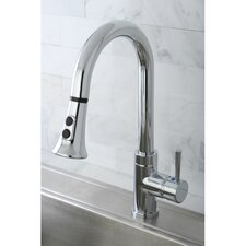 <strong>Kingston Brass</strong> Concord Gourmetier Single Handle Kitchen Faucet with Pull Down Spout