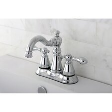 American Classic Double Handle Centerset Bathroom Faucet with ABS Pop-Up Drain