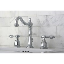 <strong>Kingston Brass</strong> Tudor Double Handle Widespread Bathroom Faucet with ABS Pop-Up Drain