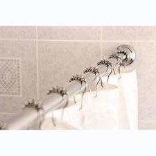 "Edenscape 60-72"" Tension Shower Rod with Decorative Flange"