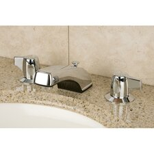 Americana Double Handle Widespread Bathroom Faucet with ABS Pop-Up Drain