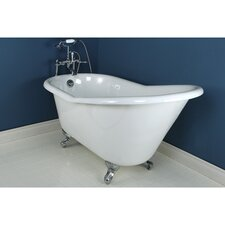 "<strong>Kingston Brass</strong> Aqua Eden 60"" x 30"" Freestanding Bathtub"