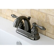 Water Onyx Double Handle Centerset Bathroom Faucet with ABS/Brass Pop-Up Drain