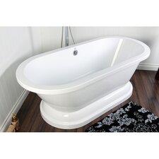 "Aqua Eden 67"" x 31"" Pedestal Bathtub"
