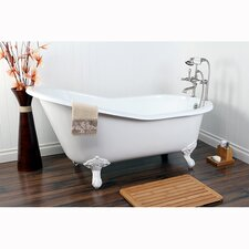 "<strong>Kingston Brass</strong> Aqua Eden 61"" x 30"" Freestanding Bathtub"