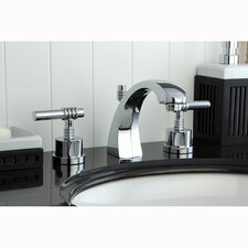 Milano Double Handle Widespread Bathroom Sink Faucet with Brass Pop-up