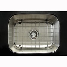 "Chicago 21.38"" x 17.75"" Gourmetier Single Bowl Undermount Kitchen Sink"