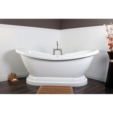 "<strong>Kingston Brass</strong> Aqua Eden 69"" x 27"" Pedestal Bathtub"