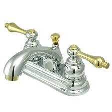 <strong>Kingston Brass</strong> Vintage Double Handle Centerset Bathroom Faucet with ABS Pop-Up Drain