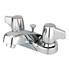 Americana Double Handle Centerset Bathroom Faucet with Brass Pop-Up Drain