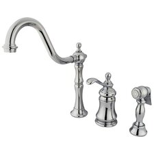 <strong>Kingston Brass</strong> Templeton Gourmetier Double Handle Widespread Kitchen Faucet
