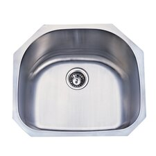 "Loft 21"" x 21"" Gourmetier Undermount Single Bowl Kitchen Sink"