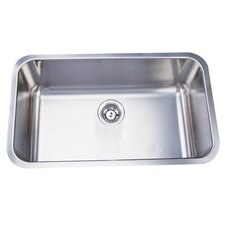 "Loft 18"" x 18"" Gourmetier Undermount Single Bowl Kitchen Sink"