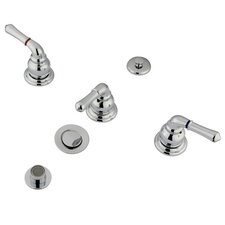 <strong>Kingston Brass</strong> Magellan Three Handle Bidet Faucet