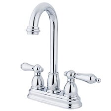 <strong>Kingston Brass</strong> Restoration Double Handle Centerset Bar Faucet