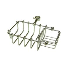 "<strong>Kingston Brass</strong> Vintage 7"" Riser Mount Soap Basket"
