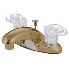 Legacy Double Handle Centerset Bathroom Faucet with Brass Pop-Up Drain
