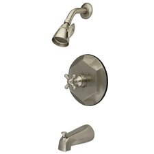 English Vintage Single Handle Tub and Shower Faucet