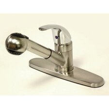 Legacy Single Handle Pull-Out Kitchen Faucet with Satin Spray