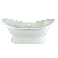 "<strong>Kingston Brass</strong> Aqua Eden 72"" x 30"" Pedestal Bathtub"