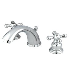 <strong>Kingston Brass</strong> Magellan Double Handle Widespread Bathroom Faucet with ABS Pop-Up Drain