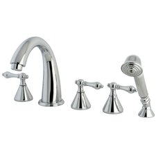 Roman Three Handle Roman Tub Filler with Hand Shower