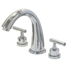 <strong>Kingston Brass</strong> Manhattan Two Handle Roman Tub Filler
