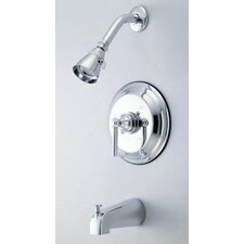 <strong>Kingston Brass</strong> Elinvar Single Handle Tub and Shower Faucet
