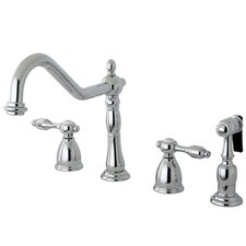 Tudor Double Handle Widespread Kitchen Faucet