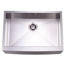 "Denver 30"" x 21"" Gourmetier Single Bowl Farm House Kitchen Sink"