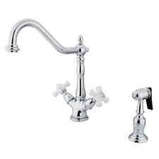 Heritage Double Handle Kitchen Faucet with Side Sprayer