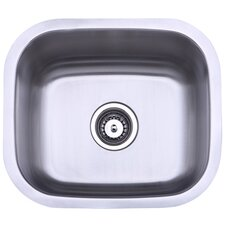 "Country 17.81"" x 15.63"" Gourmetier Single Bowl Undermount Kitchen Sink"