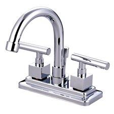 Claremont Double Handle Centerset Bathroom Faucet with Brass Pop-Up Drain