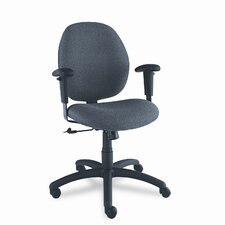 Low-Back Pneumatic Ergo-Tilter Task Chair with T-Arms