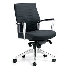 <strong>Global Total Office</strong> Accord Executive Mid-Back Pneumatic Office Chair