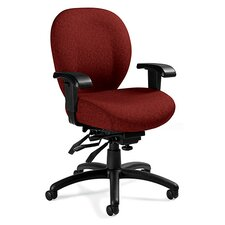 <strong>Global Total Office</strong> Mid-Back Multi-Tilter Office Chair with Arms