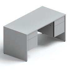 <strong>Global Total Office</strong> Genoa Double Pedestal Desk