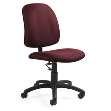 Low-Back Pneumatic Armless Task Chair
