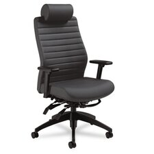 <strong>Global Total Office</strong> Aspen Series Executive Back Multi-Tilt Chair with Headrest