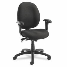 <strong>Global Total Office</strong> Malaga Low-Back Pneumatic Multi Office Chair with Arms