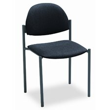 Comet Armless Stacking Chair with Rounded Back and Frame (Set of 3)