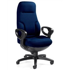 ricHigh-Back Leather Executive Chair with Arms