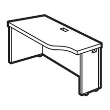 "Correlation 24"" D Space-Saver Connectable Table - Left"