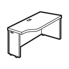 """Correlation 24"""" Deep Space Saver Connectable Table - Right (Avant Cherry)"""