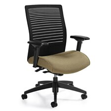 <strong>Global Total Office</strong> Medium Back Mesh Chair with Weight Sensing Synchro-Tilter