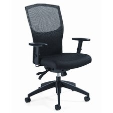 <strong>Global Total Office</strong> Alero Mid-Back Pneumatic Multi Office Chair with Arms