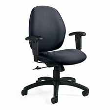 <strong>Global Total Office</strong> Graham Low-Back Pneumatic Ergo-Tilter Office Chair